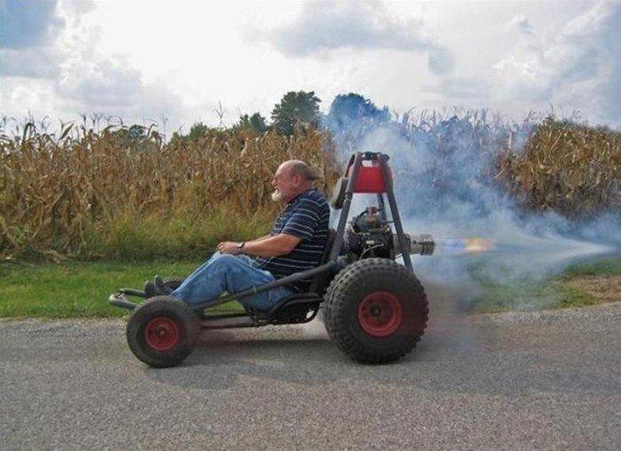 Необычные мотоциклы. Реактивный мотоцикл