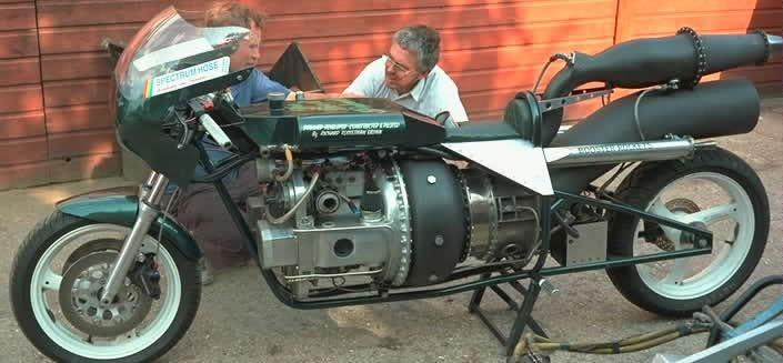 Необычные мотоциклы. Мотоцикл с реактивным двигателем