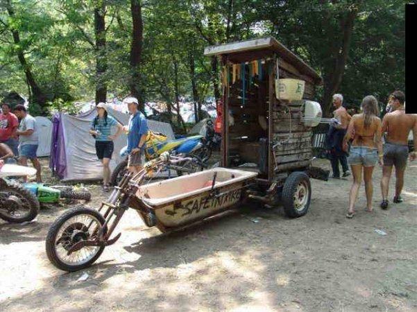 Необычные мотоциклы. Мотоцикл ванна-сартир